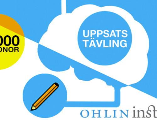Delta i Ohlininstitutets uppsatstävling