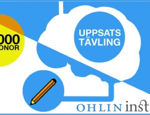 Vinnare Ohlininstitutets uppsatstävling